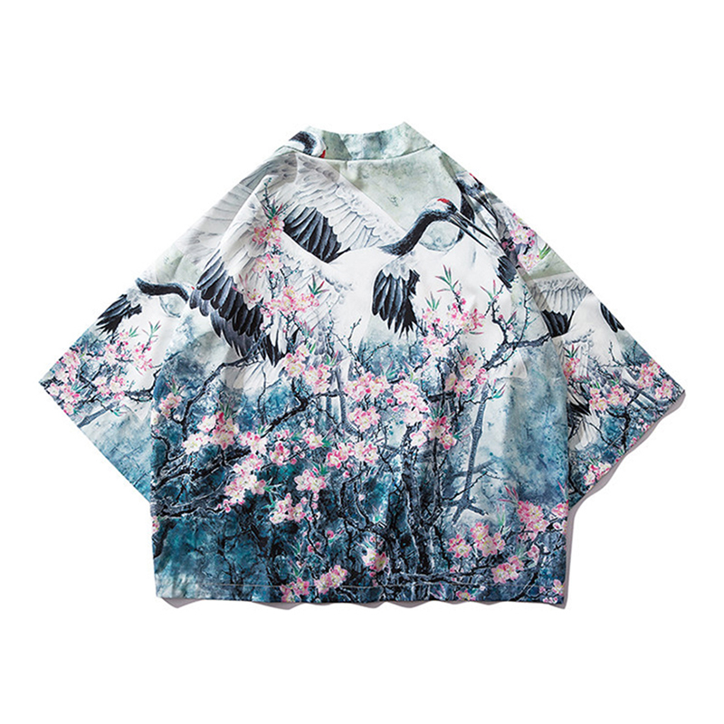 Traditional Asia Clothes Casual Japanese Fashion Men Printing Shirt Kimono Cardigan Streetwear For Male Open Shirts Women Coat