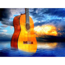 Diy картина по номерам скрипки маслом Раскраска пейзаж 40 х