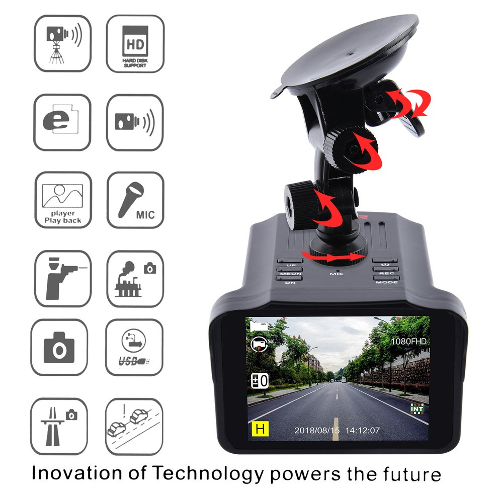 H588 2.7 Inch  TFT Screen Vehicle Recorder Car DVR Camera Anti Speed Radar Detector Universal Vehicle Parts