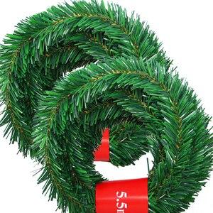 Image 2 - 5.5 متر حفلة احتفالية الروطان اكليلا من الزهور عيد الميلاد الديكور جارلاند حفلة عيد الميلاد قطرة زخرفة 2021 زينة عيد الميلاد للمنزل