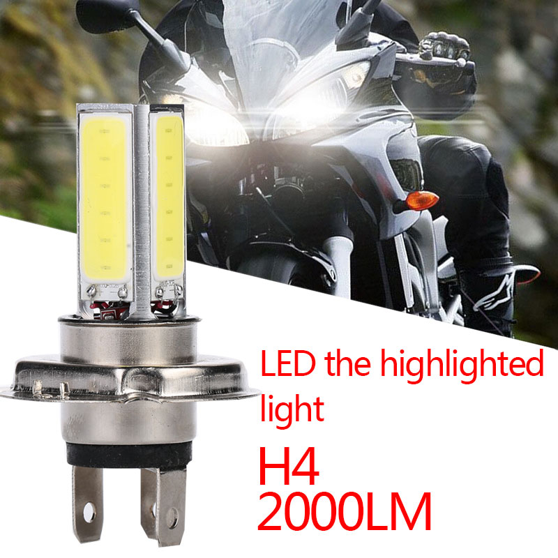 COB H4 LED Front Lamp Super Bright Bulbs LED Light High Power Motorcycle Motorcycle Headlight Motorbike