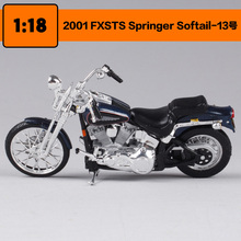 Maisto 1:18 Harley Davidson 2001 FXSTS Springer Softail Motorcycle metal model Toys For Children Birthday Gift Toys Collection