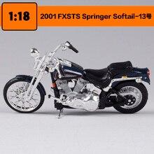 Maisto 1:18 Harley Davidson 2001 FXSTS Springer Softail Motorrad metall modell Spielzeug Für Kinder Geburtstag Geschenk Spielzeug Sammlung
