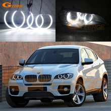 Ultra bright SMD LED Angel Eyes halo rings kit Day Light Car styling For BMW X6 E71 E72 X6M 2008 2014