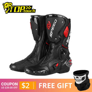 PRO-BIKER SPEED BIKERS Motorcycle Boots Men Moto Racing Motocross Off-Road Motorbike Motorcycle Shoes Botas Moto Riding Boots - DISCOUNT ITEM  45 OFF Automobiles & Motorcycles