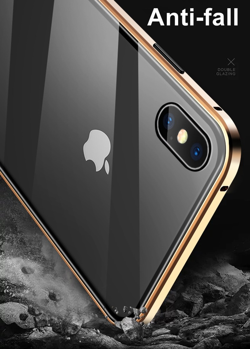H8047261ed9e44fdab5ef62ee30291d5bT Tongdaytech Privacy Magnetic Case For Iphone XS XR X 6s 6 7 8 Plus 11 Pro MAX Magnet Metal Tempered Glass Cover 360 Funda Cases
