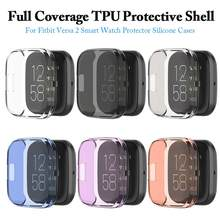 6 Kleuren Ultradunne Soft Tpu Protector Case Cover Clear Beschermende Shell Voor Fitbit Versa 2 Band Smart Horloge screen Protector(China)