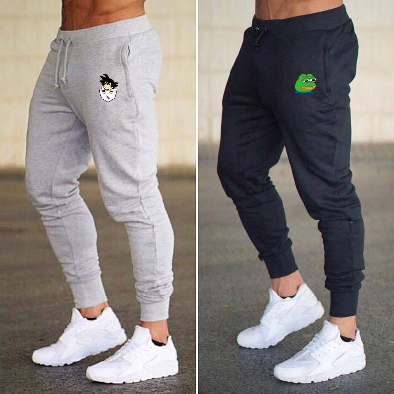 2020 new men's jogging sports casual pants fitness men's sportswear, tight track pants trousers gym jogging track pants