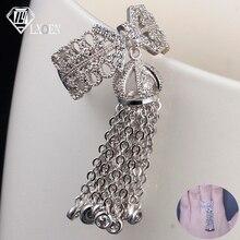 LXOEN Роскошные вечерние кольца с кисточками от известного бренда для женщин, инкрустация кубическим цирконием, регулируемое кольцо с короной от известного бренда, модное кольцо