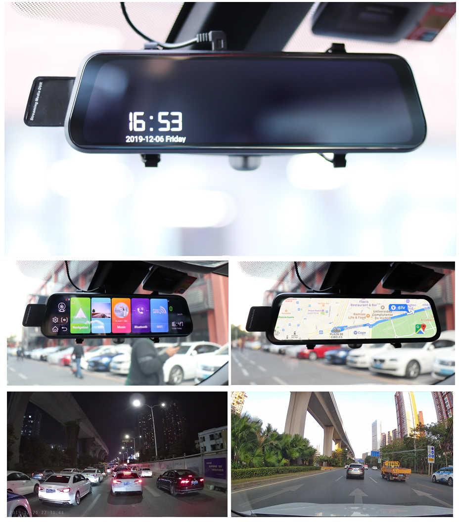 Dual 1080P 4G Android 8.1 10 Inch Dòng Truyền Thông Gương Chiếu Hậu Xe Hơi Bluetooth Camera DVR Xe Ô Tô ADAS Siêu đêm WIFI GPS Dash Cam
