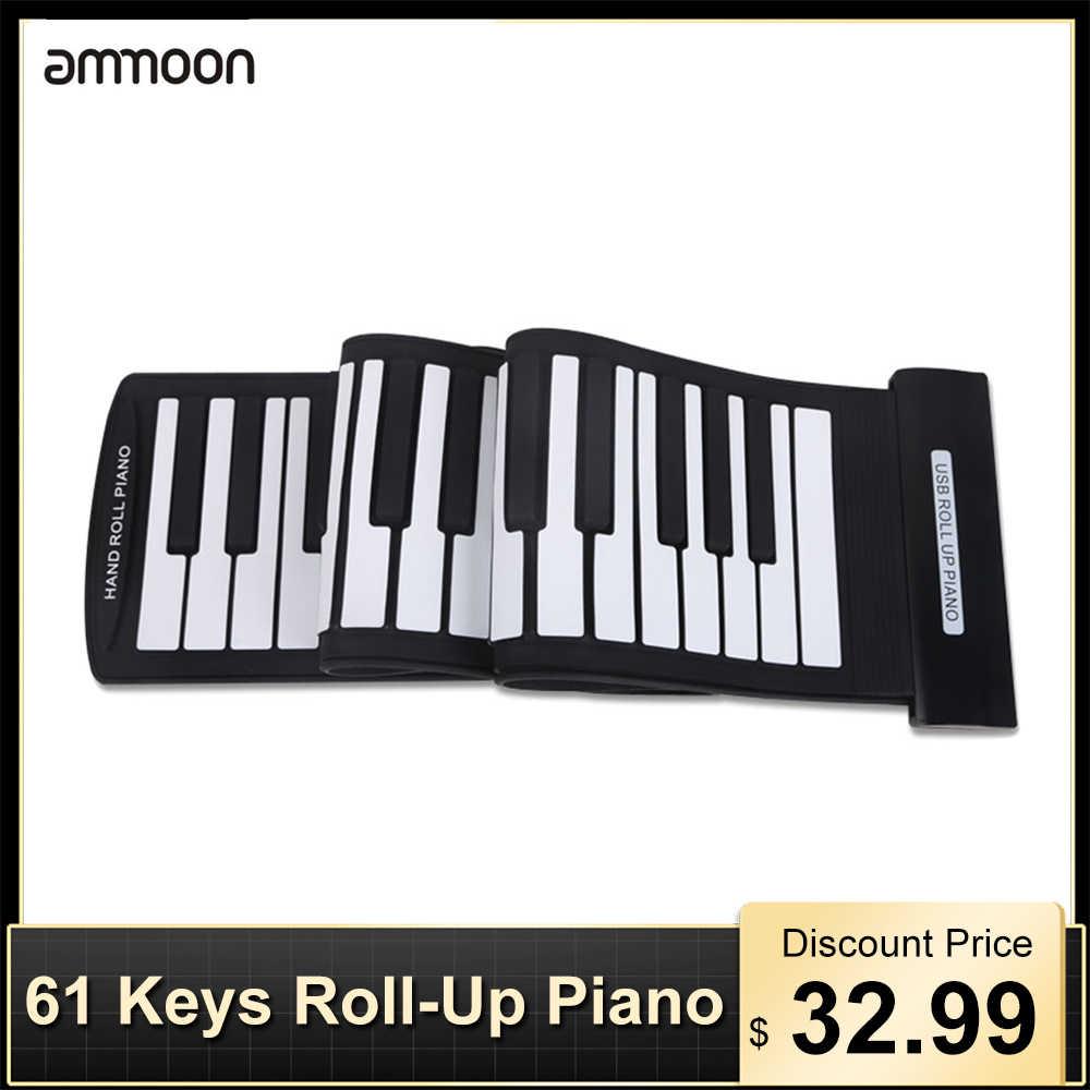 Tastiera MIDI 61 Tasti Professionale Roll-Up Piano Tastiera USB MIDI Elettronico Mano Roll Pianoforte sintetizzatore di organo Elettronico