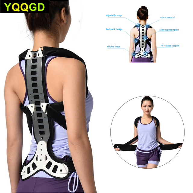 1Pcs Posture Corrector Back Braces Shoulder Waist Lumbar Support Belt Humpback Prevent Body Straighten Slouch Compression Pain R