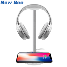 New Bee Wireless Charging Fashion Headphone Stand Holder Hanger Smartphone Charging For Samsung Galaxy S7/S7Edge/S6/S6 Edge HTC