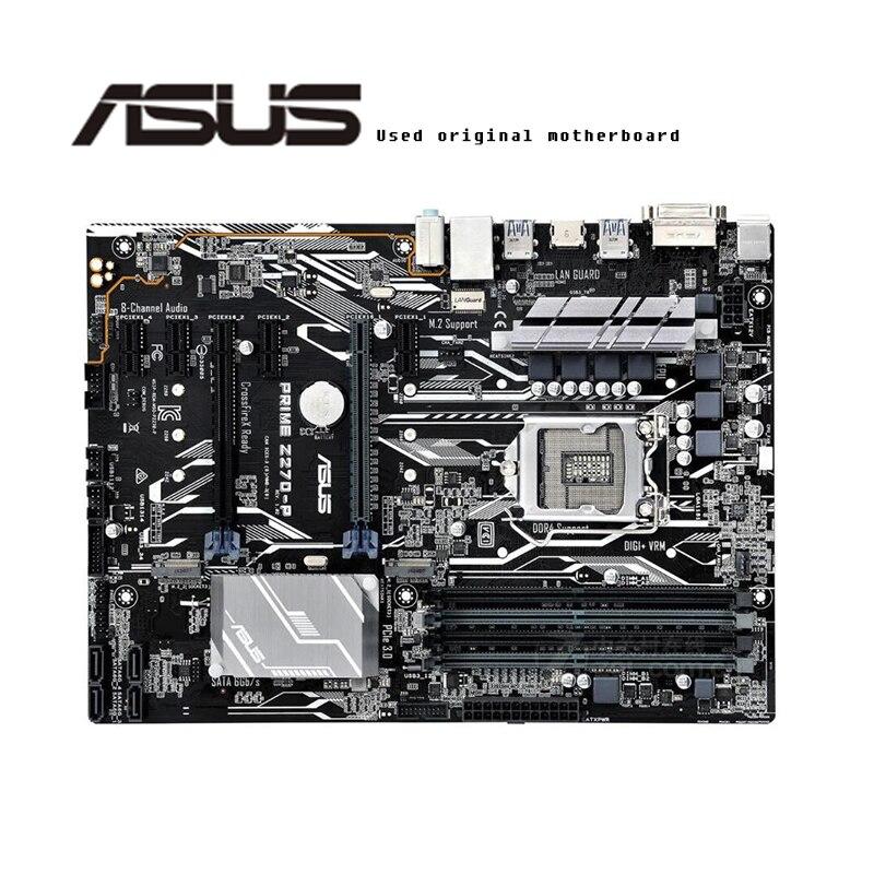Материнская плата для Asus PRIME, оригинальная б/у Материнская плата Intel Z270 Z270M DDR4 LGA 1151 i7/i5/i3 USB3.0 SATA3