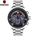 KADEMAN 2019 спортивные часы мужские Роскошные Кварцевые часы Топ бренд полностью стальные военные наручные часы Бизнес Мужские часы Relogio Masculino