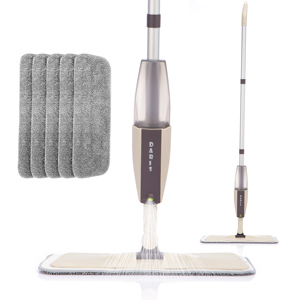 Spray Floor Mop with Replacement Microfiber Pads Washing Flat Mop Home Kitchen Laminate Wood Ceramic Tiles Floor Cleaning Tools(China)