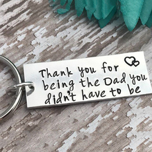 купить 2019 New Keychain Stainless Steel Thanks Father's Day Stainless Steel Keychain Thanksgiving Father Gift Keychain дешево