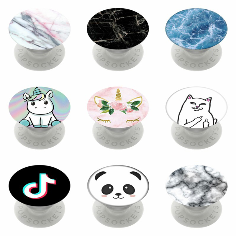 Marble And Cute Animal Popsoket Kids Pops Phone Holder Popsocet Mobile Stand Pocket Mine Finger Ring Pipsocket Flexible попсокет