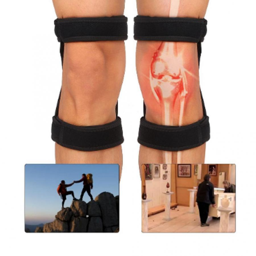 2pcs Knee Brace Spring Lift Knee Boosters Joint Support Knee Pads for Mountaineering Squat Lift Knee Orthopedic Brace SupportsBraces & Supports   -