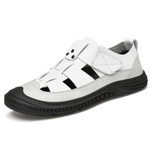 Big Size Brand Men Classic Sandals Outdoor Rubber Platform Non-slip Summer Sports Sandal Hollow Out Leather Casual Shoes for Men