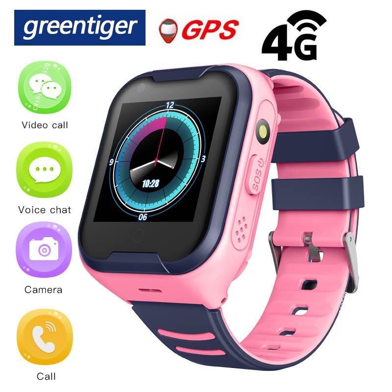 Greentiger 4G Network A36E Wifi GPS SOS Smart Watch Kids Video Call IP67 Waterproof Alarm Clock Camera Baby Watch VS Q50 Q90