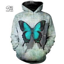 PLstar Cosmos Butterfly Animal colorful 3D Printed Hoodie/Sweatshirt/Jacket/shirts Mens Womens  Harajuku casual hiphop style-3