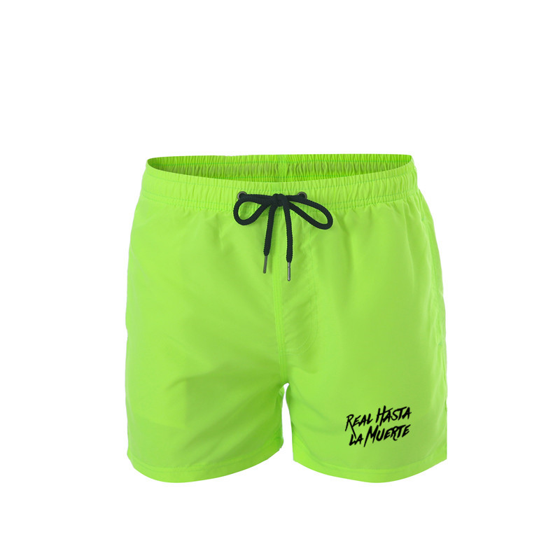 Real Hasta La Muerte Men's Board Shorts Summer Beach Surf Pants Quick Drying Swimwear Male Swim Shorts With Liner Swimming Trunk