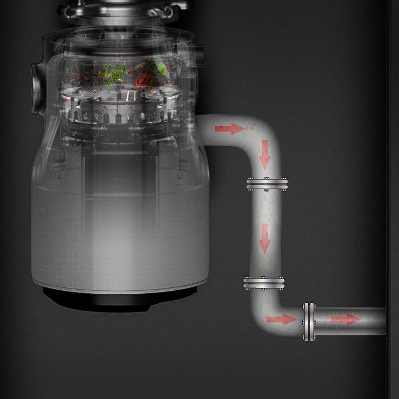 Устройство для измельчения пищевых отходов, немецкая электротехника 2020 Вт, септическая техника, 1 HP, бытовой измельчитель мусора, новинка 1200 4