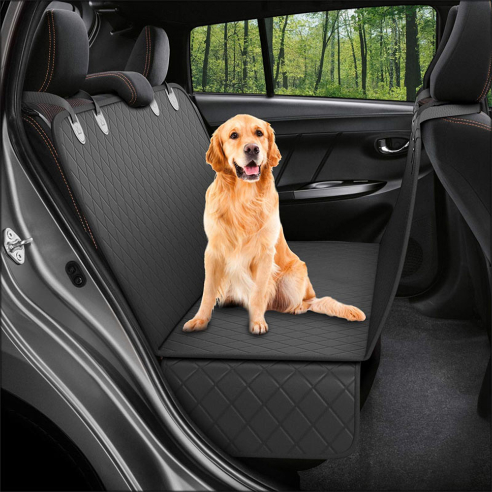 Lanke Dog Back Seat Cover Protector Waterproof Scratchproof Nonslip Hammock for Dogs, Against Dirt and Pet Fur Car Seat Covers 13