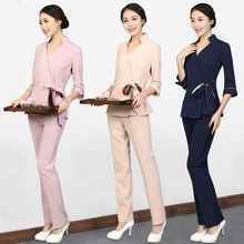 Posture Record 2019 New Beauty Salon Workwear Female Autumn And Winter Spa Medical Nurse Cosmetologist Clothing Professional Sui