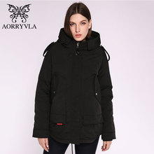 AORRYVLA 2020 חדש נשים חורף מעיל ברדס Windproof צבאי מעיל גדול כיס נשי חורף בגדים מזדמן חם אישה מעיילי