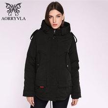 AORRYVLA 2020 Новая женская зимняя куртка с капюшоном, ветрозащитная куртка в стиле милитари с большим карманом, женская зимняя одежда, повседневная теплая куртка для женщин