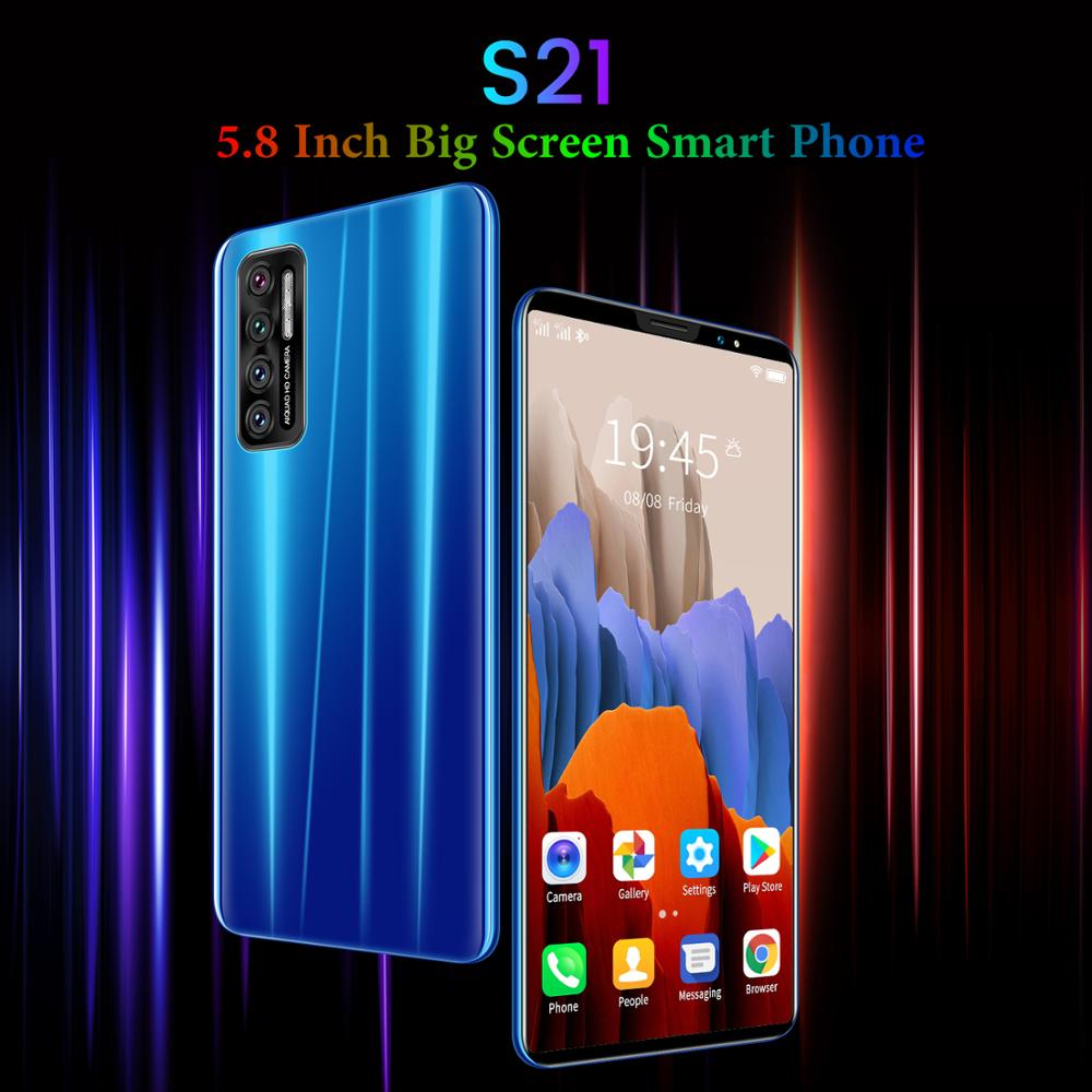 Barato telefone inteligente cectdigi s21 5.8 Polegada tela cheia 3g wcdma smartphone android 4.4 512mb ram + 4gb desbloqueado duplo sim telefone móvel|Celulares|   -