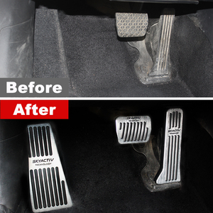 Image 3 - Auto Accelerator Bremse Kupplung Pedal Fußstütze Pedal Platte Abdeckung Für Mazda 3 6 BM GJ CX3 CX 5 CX5 KE KF axela ATENZA 2017 2018 2019