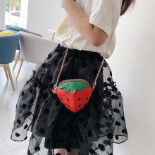 Cute crossbody bags for women 2019 Leather Chain Girl Children Strawberry Crossbody Bags Shoulder Bag Womens elegant bolso mujer(China)
