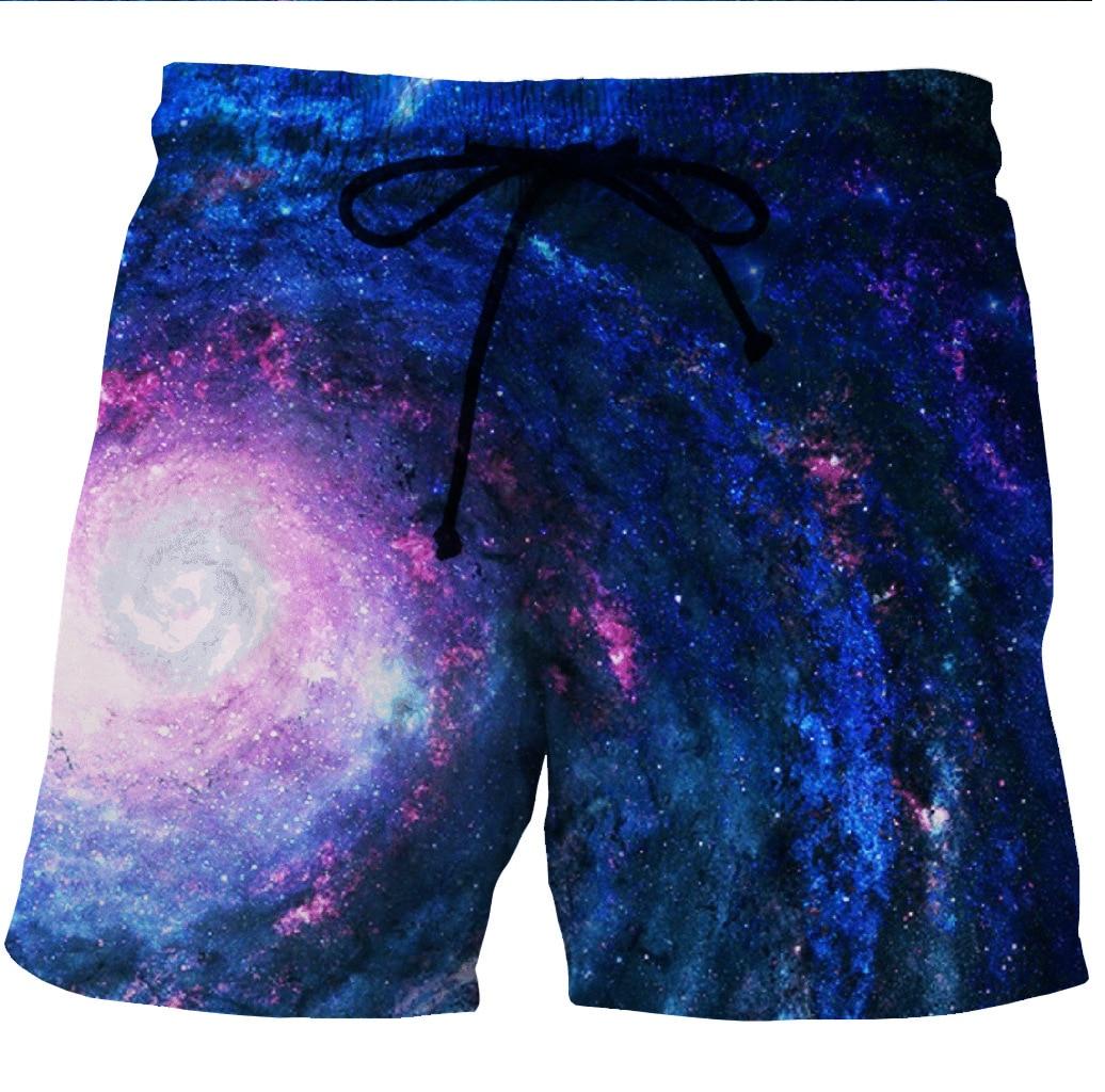 Digital Printing European And American Men's Quick-dry Beach Shorts 3D Star-printed Leisure Shorts