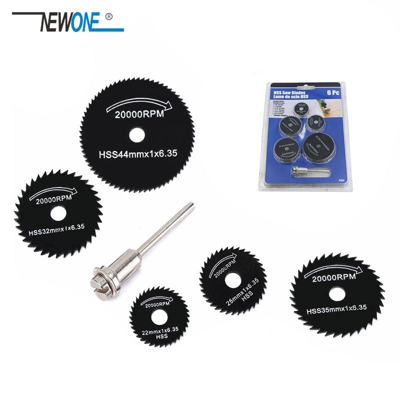 5Pcs HSS Saw Blades For Metal Dremel Rotary Tool Cutting Discs Wheel + 1 Mandrel For Proxxon Dremel Rotary Tools