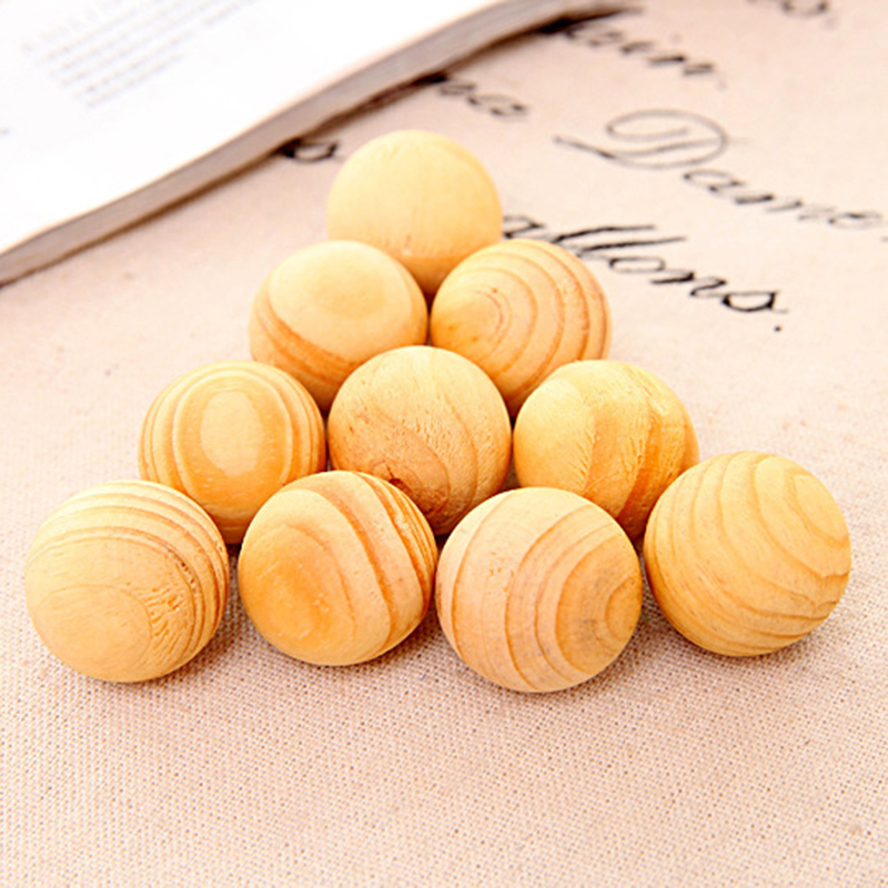 Wardrobe Pest Control Wood Camphor Pill Insect Repellent Mildew Proof Moisture-proof Insect Repellent Fragrant Wood Ball