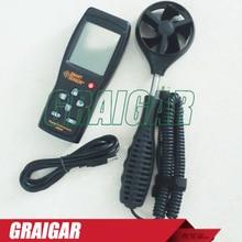 Smart Sensor AS856 0.3-45M/S digital anemometer wind speed meter hand-held Anemometer Thermometer air speed meter стоимость