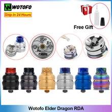 Оригинальный атомайзер Wotofo Elder Dragon RDA 510, Ремонтный бак для капель 22 мм, электронная сигарета без поста для 510/Squonk, бокс мод