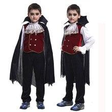 Amorden Gothic hrabia Dracula wampir kostiumy chłopcy dzieci Vampira Cosplay Halloween karnawał Party Mardi Gras przebranie