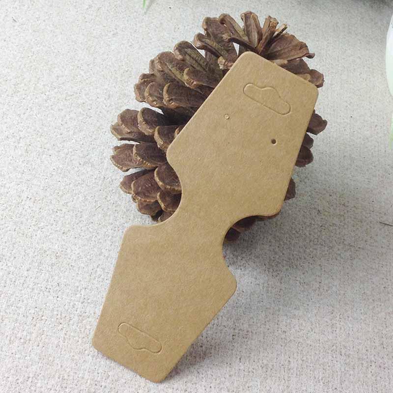 Nouveau design bricolage 5000 pièces 12x4.5cm avec logo couleur marron collier avec boucle d'oreille ensemble paquet tag carte collier affichage cintre carte