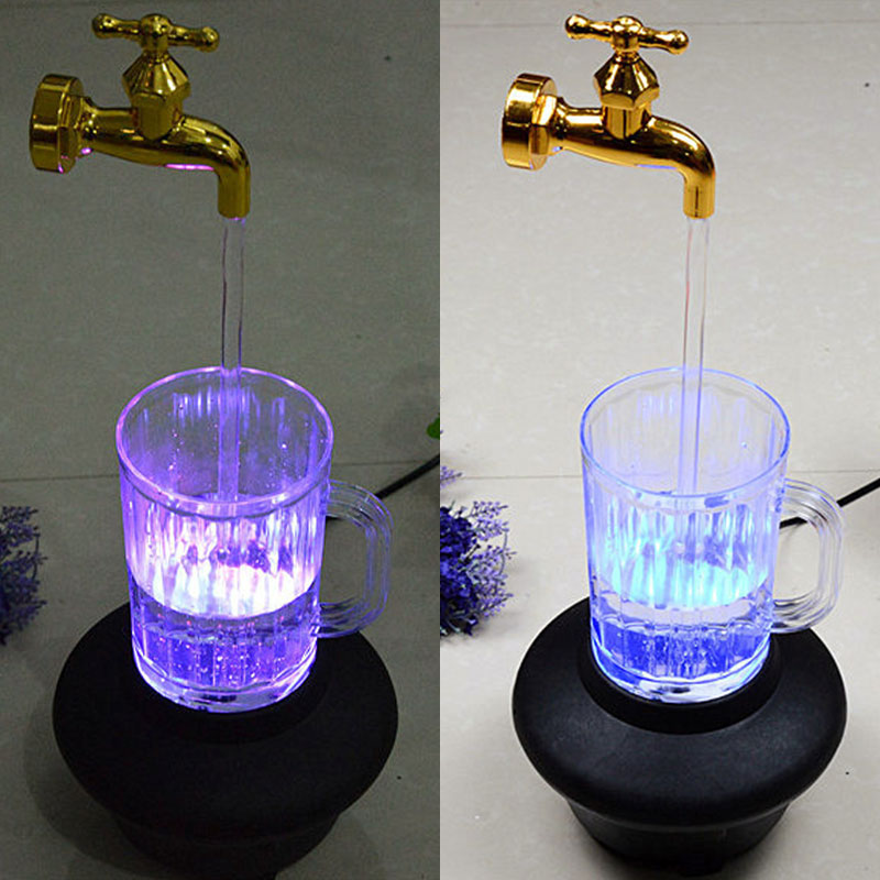 Suspended Faucet Injection Molding Magic Glass Lamp LED Magic Props Furnishing Plastic Portable Hanging Ornaments