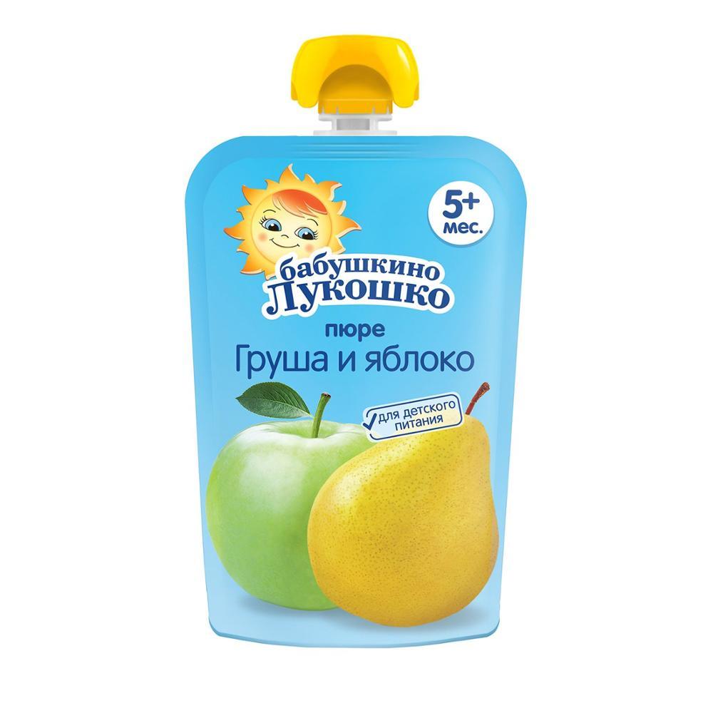 Пюре Бабушкино лукошко яблоко-груша пауч 90 г