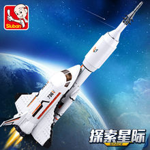 Espaço navio shuttle foguete nave espacial estação astronauta modelo tijolos brinquedos aeroespacial criador conjuntos de blocos de construção crianças brinquedos