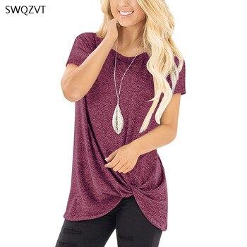 2020 新半袖女性 tシャツ夏カジュアルソリッドカラーのレディース tシャツレジャー女性 tシャツ女性服
