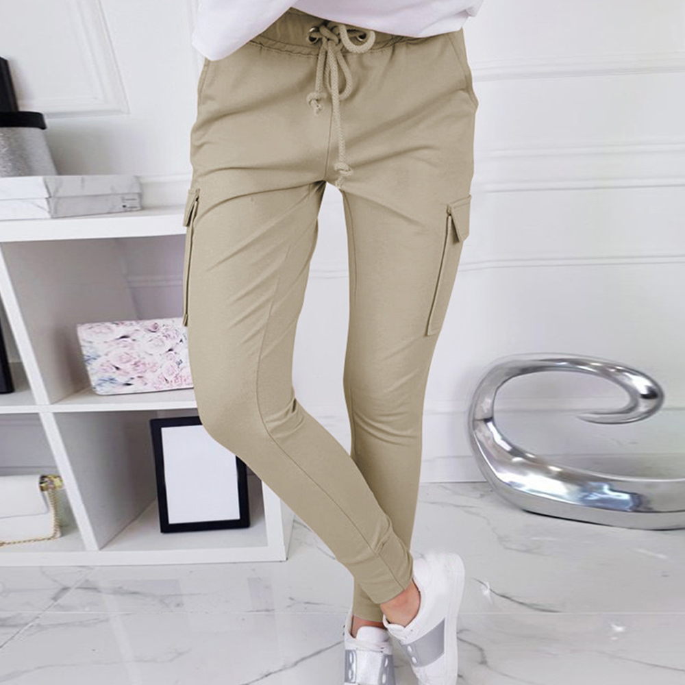 2020 Women Cotton Pants Short Pants Capris Casual Loose Elastic Waist Female Plus Size Summer Calf-length Women Pants