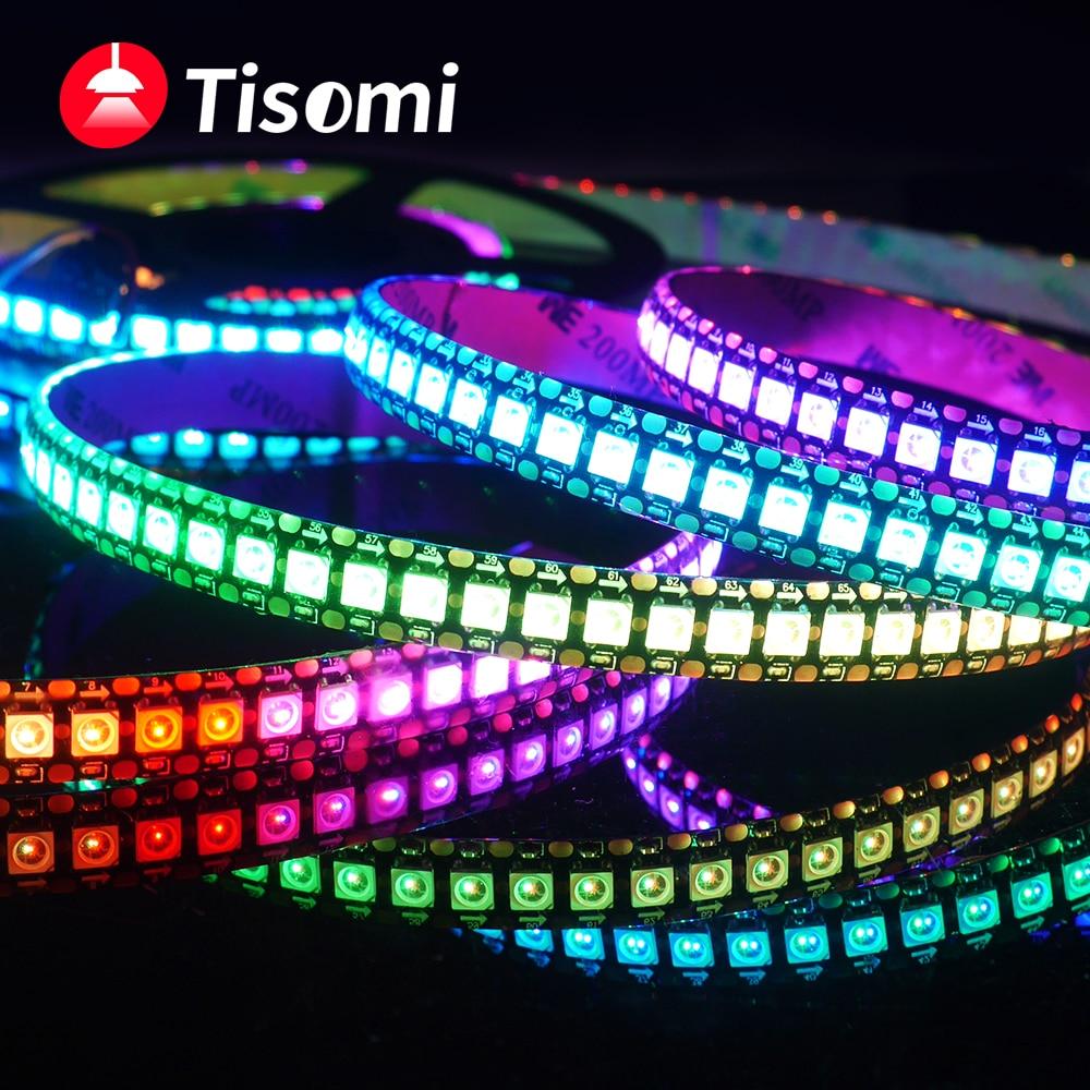 WS2815 WS2812B WS2811 LED Streifen WS2812 5050 Lampe Perlen Neon Smart Pixel Address Programmierung RGB voll Farbe LED Streifen