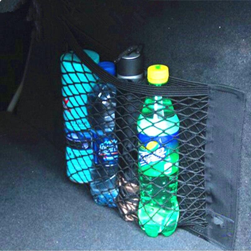 40*25CM Car Trunk Box Storage Bag Mesh Pocket Sticker Trunk Organizer For Ford Focus 2 3 1 Fiesta Mondeo MK4 MK 4 Transit