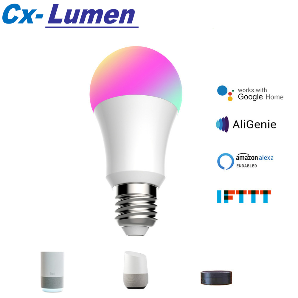 12W WiFi Smart Light Bulb RGB White Magic LamDimmable LED E27 B22 WiFi Bulbs Compatible with Amazon Alexa Google Home Smartphone